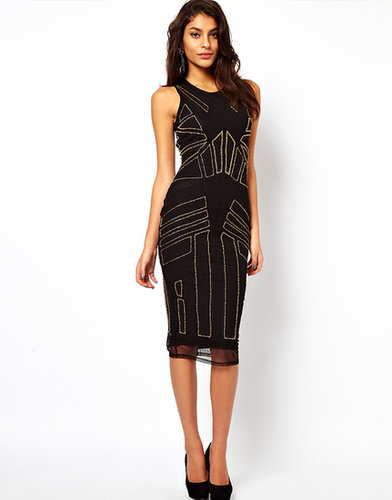 ASOS Midi Dress With Beading And Applique