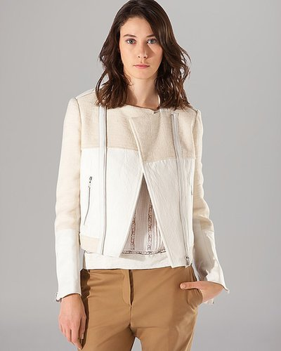 Maje Moto Jacket - Light Leather Combo