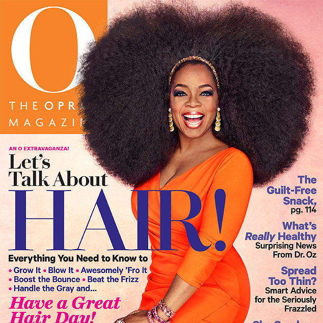 Oprah 1.5kg Wig on Cover of September's O Magazine