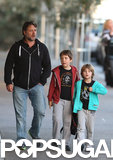 Russell Crowe took his sons, Tennyson and Charles, to get ice cream in Sydney, Australia.