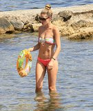 Doutzen Kroes wore a bright bikini in Ibiza.