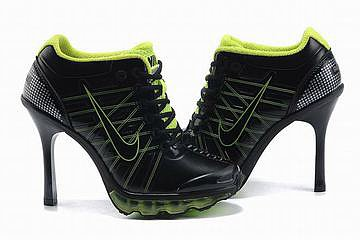 air max 2009 heels black green