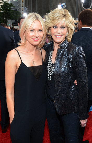 Naomi Watts met up with Jane Fonda on the red carpet.