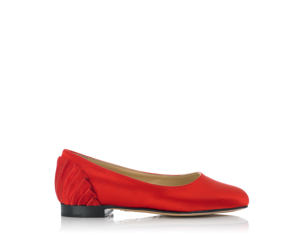 Charlotte Olympia Pamela flat ($295) in red.