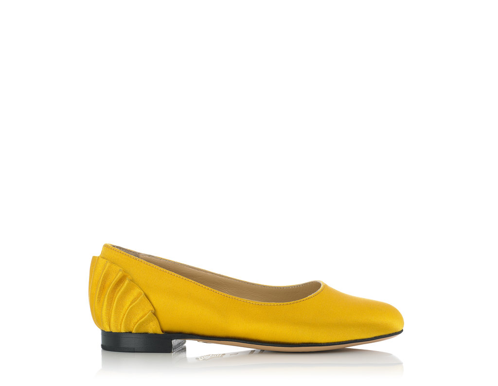 Charlotte Olympia Pamela flat ($295) in yellow.