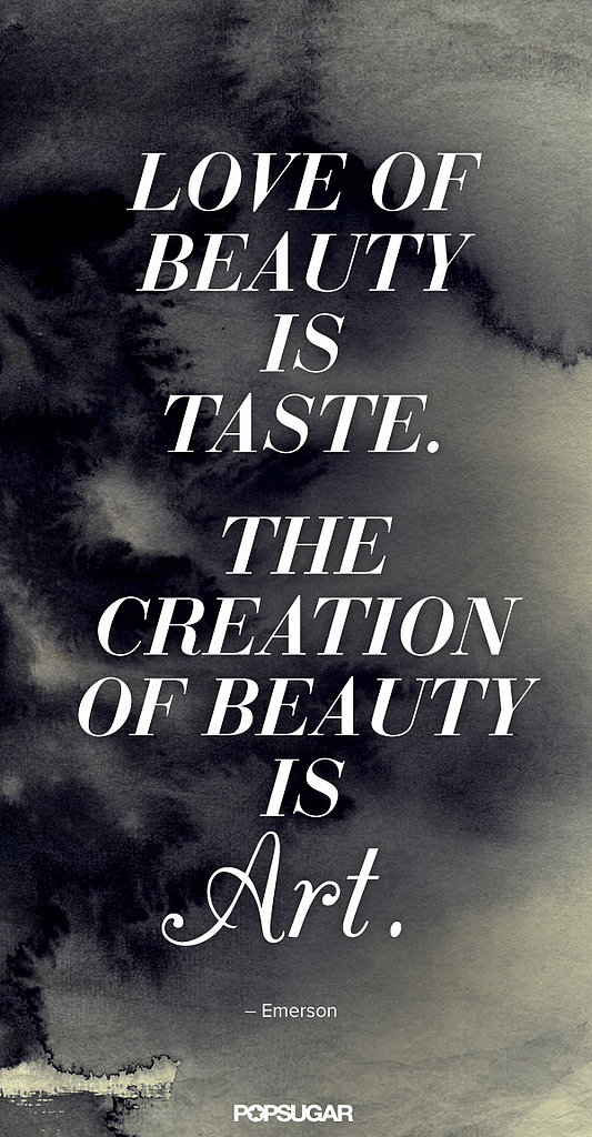 The notion of beauty in truly poetic form.