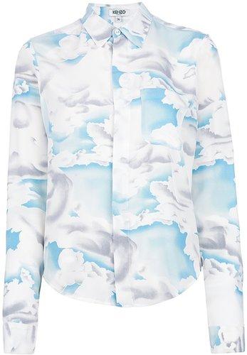 Kenzo painted cloud print blouse