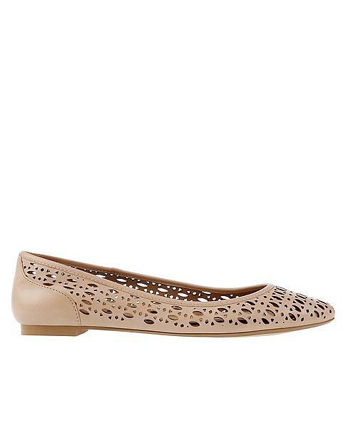 Linley Cutout Leather Flats ($98)