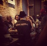 Beyoncé Knowles popped into Woodwork bar in Brooklyn. Source: Instagram user gretacosey