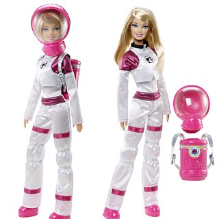 Astronaut Barbie on Mars
