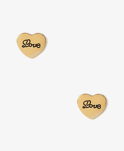 FOREVER 21 Love Heart Studs