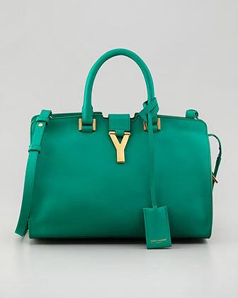 Saint Laurent Y-Ligne Cabas Mini Bag, Green