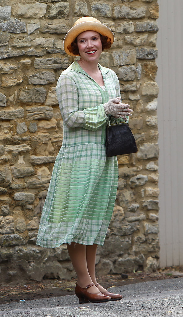 Daisy Lewis was on the set for Downton Abbey on Wednesday in Oxfordshire, England.