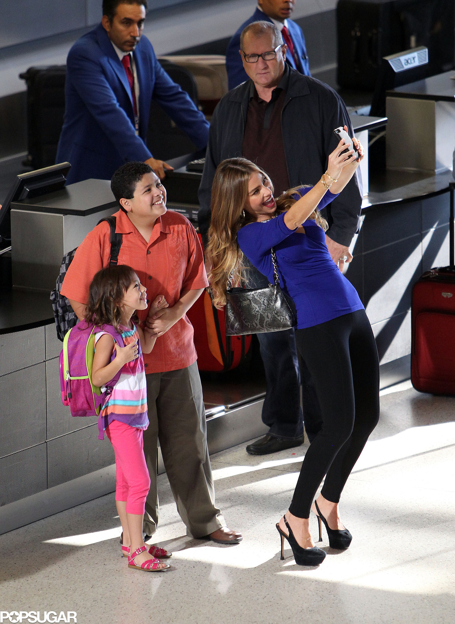 Sofia Vergara snapped a selfie with her costars Rico Rodriguez and Aubrey Anderson-Emmons