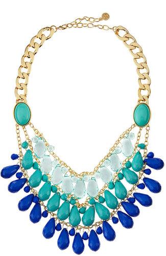 R.J. Graziano Turquoise-Blue Teardrop Bib Necklace