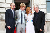 Rachel McAdams posed with her costars at the London premiere of her new film.