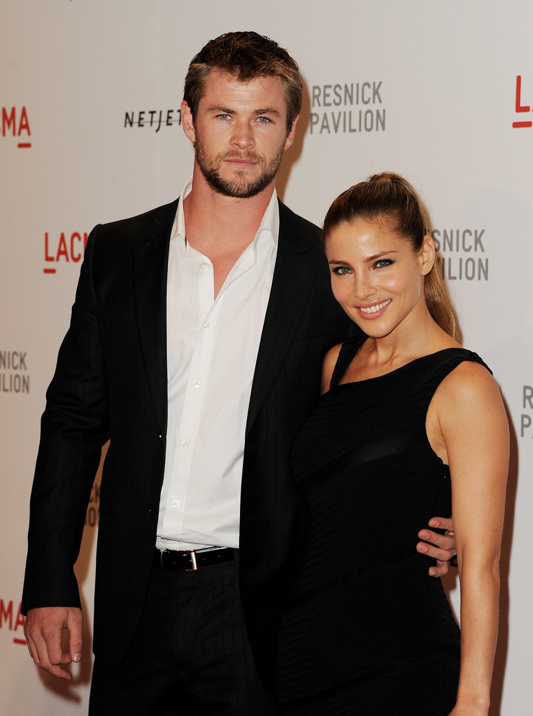 Chris and Elsa Pataky attended the opening gala for Unmasking at LACMA in LA in Sept. 2010.