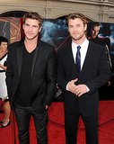Chris had little brother Liam's support at the LA premiere of Thor in May 2011.