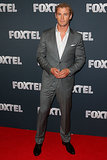 Chris suited up handsomely for the launch of Foxtel's 2013 programming line-up in Sydney in Feb. 2013.