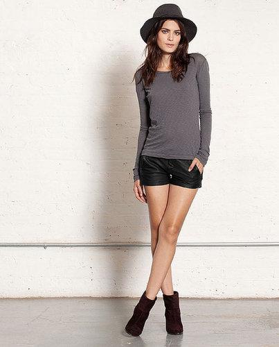 Portobello Short - Black Leather