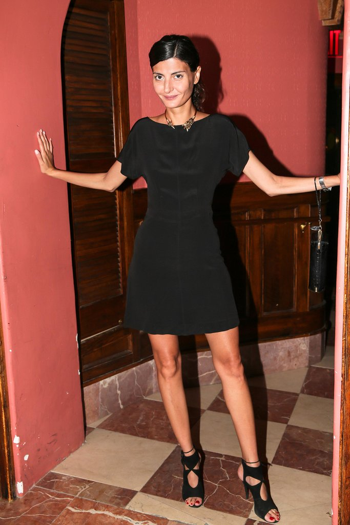 Giovanna Battaglia helped launch Saved Wines in head-to-toe black.