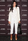 At the New York screening of Jobs, Rachel Roy suited up in white.
