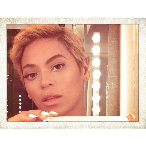 A new member of the pixie league, Beyoncé shocked everyone when she posted this photo of her new, shorter crop to her Instagram. Source: Instagram user beyonce
