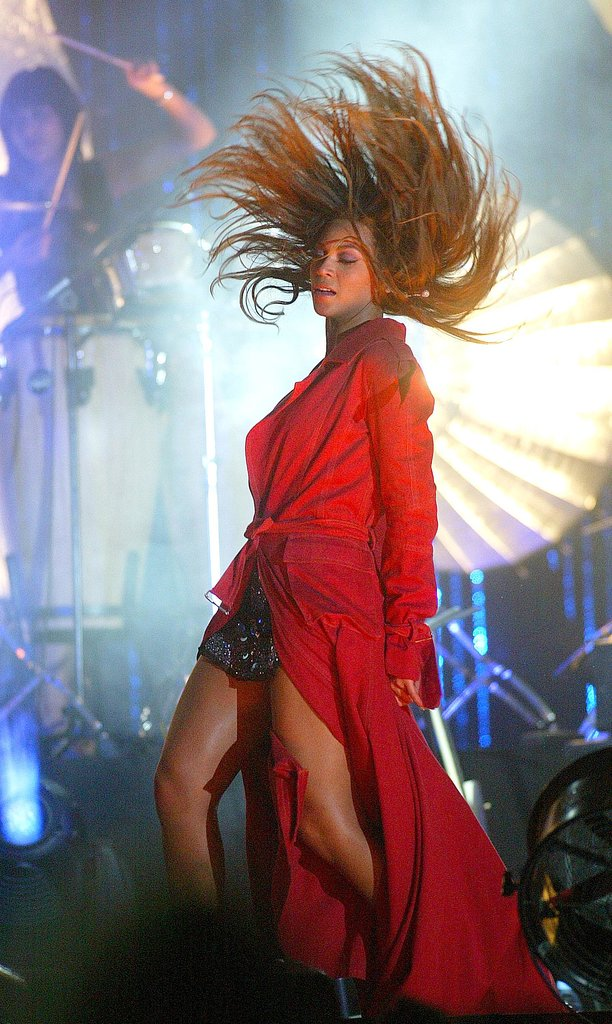 The bend-and-snap is Bey's favorite move, as you can see from this London concert in 2006.