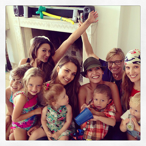 Honor and Haven Warren joined in a birthday celebration in Malibu. Source: Instagram user jessicaalba
