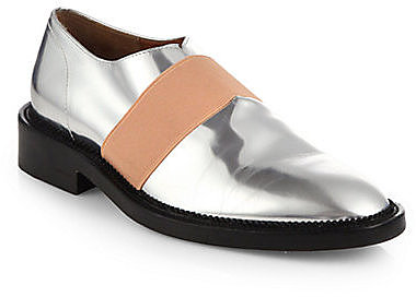 Givenchy Metallic Leather Derby Oxfords