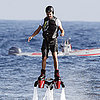 Shirtless Leonardo DiCaprio Pictures Using Flyboard in Spain
