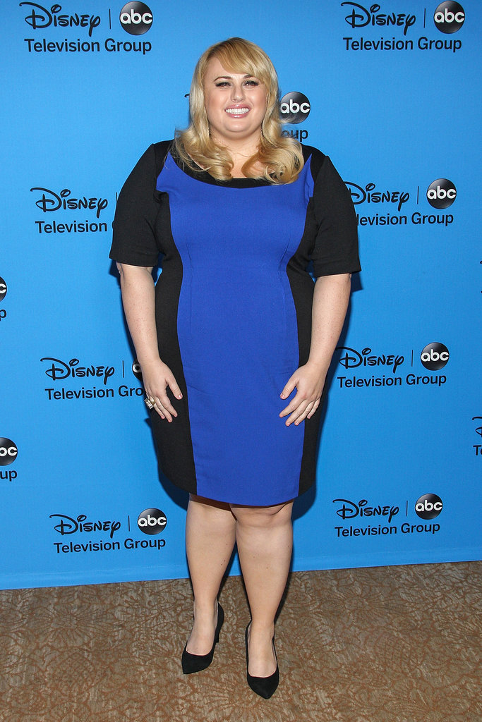 Australian actress Rebel Wilson donned a beautiful blue hue to attend the Disney and ABC TV groups' Summer TCA Party in Los Angeles on August 4.