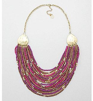 Erica Lyons® Purple Multi Razmataz Long Necklace