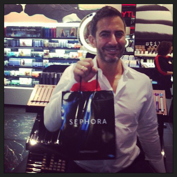 Marc Jacobs swung by Sephora to pick up some pieces from his makeup collection.
