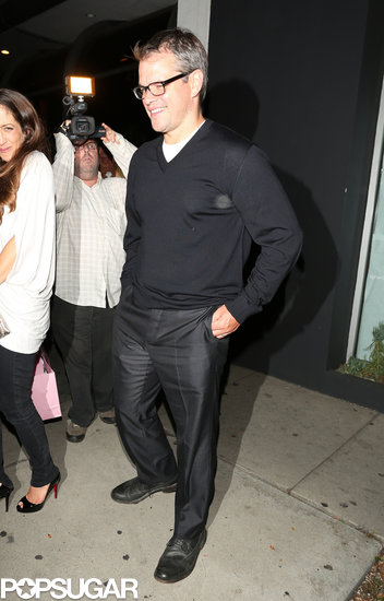 Matt Damon grabbed dinner at Madeo.
