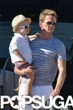 Neil Patrick Harris and his son Gideon spent time on a boat in Saint-Tropez.
