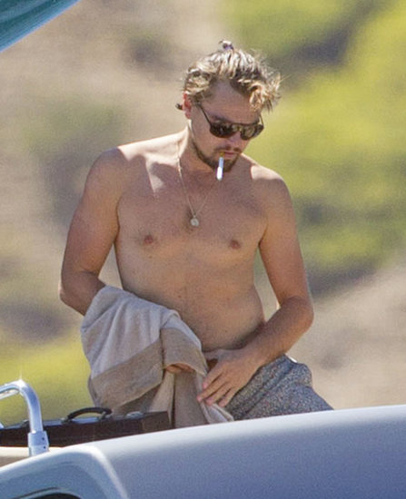 Leonardo DiCaprio was shirtless in Ibiza on Friday.