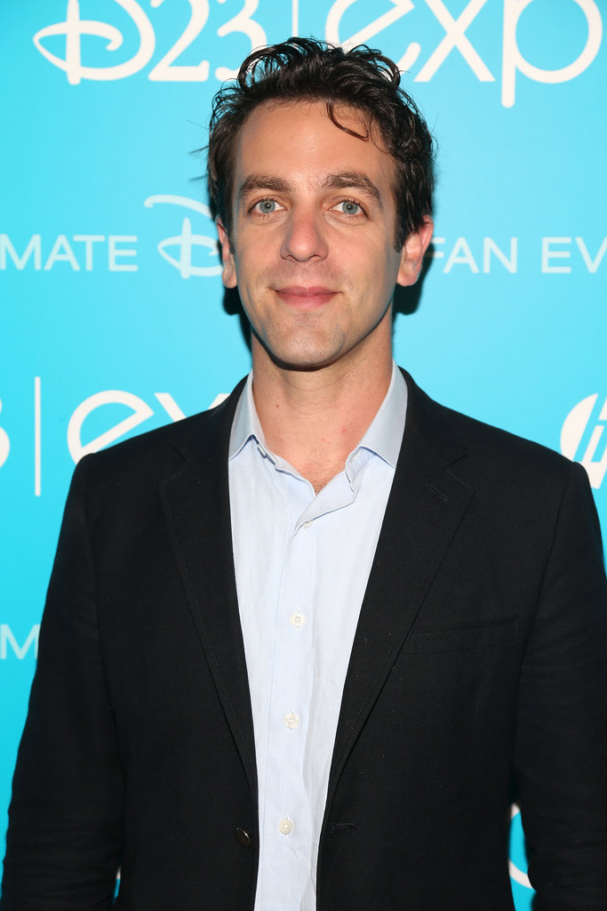 B.J. Novak attended the 2013 Disney D23 Expo in LA on Saturday.