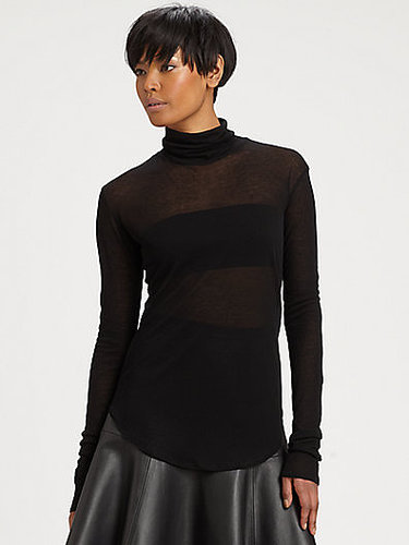 J Brand Ready-To-Wear Norma Sheer Turtleneck Sweater