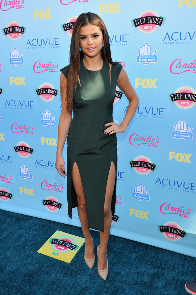 Selena Gomez attended the 2013 Teen Choice Awards.