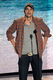 Ashton Kutcher spoke at the Teen Choice Awards.