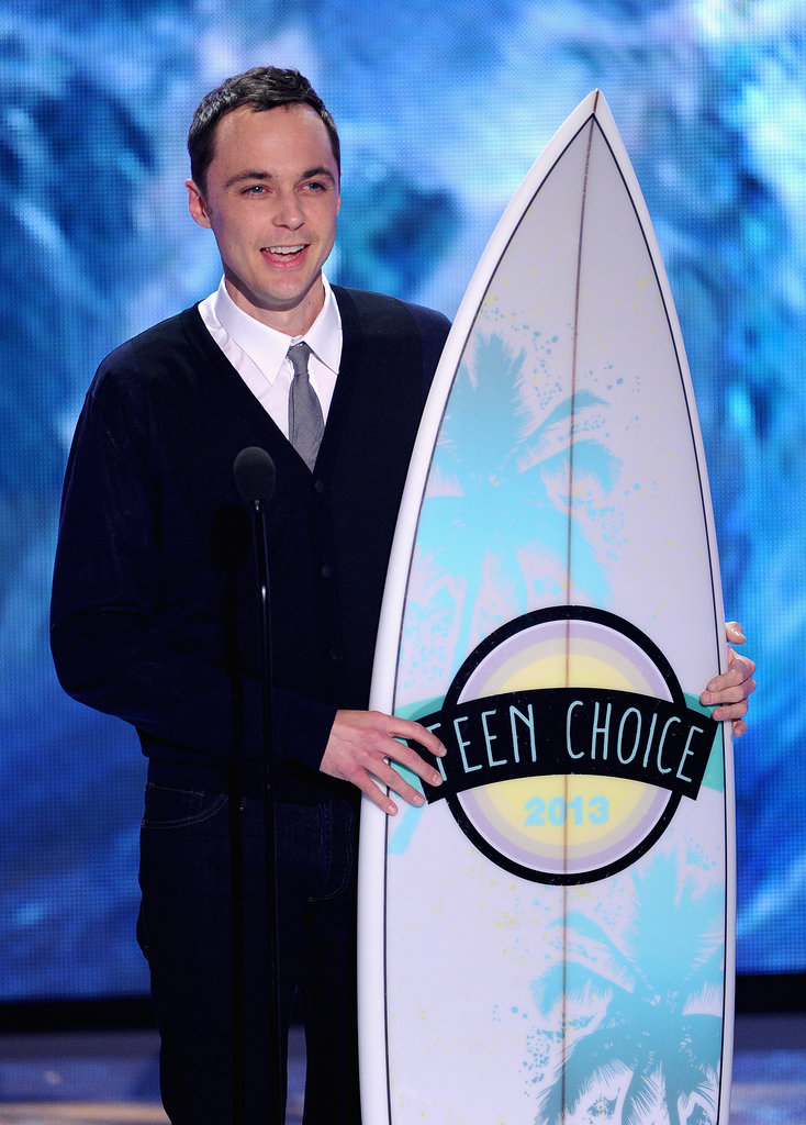 Jim Parsons accepted an award at the Teen Choice Awards.