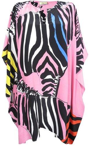 Issa Candy Pink Four Zebras Poncho