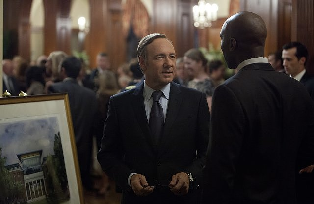 House of Cards The Netflix hit did the near-impossible in its first season: it broke into the hard-to-get-into outstanding drama series, which is inhabited by heavy hitters like Mad Men, Breaking Bad, and Homeland. Source: Netflix