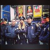 New York's finest!  Source: Instagram user caradelevingne