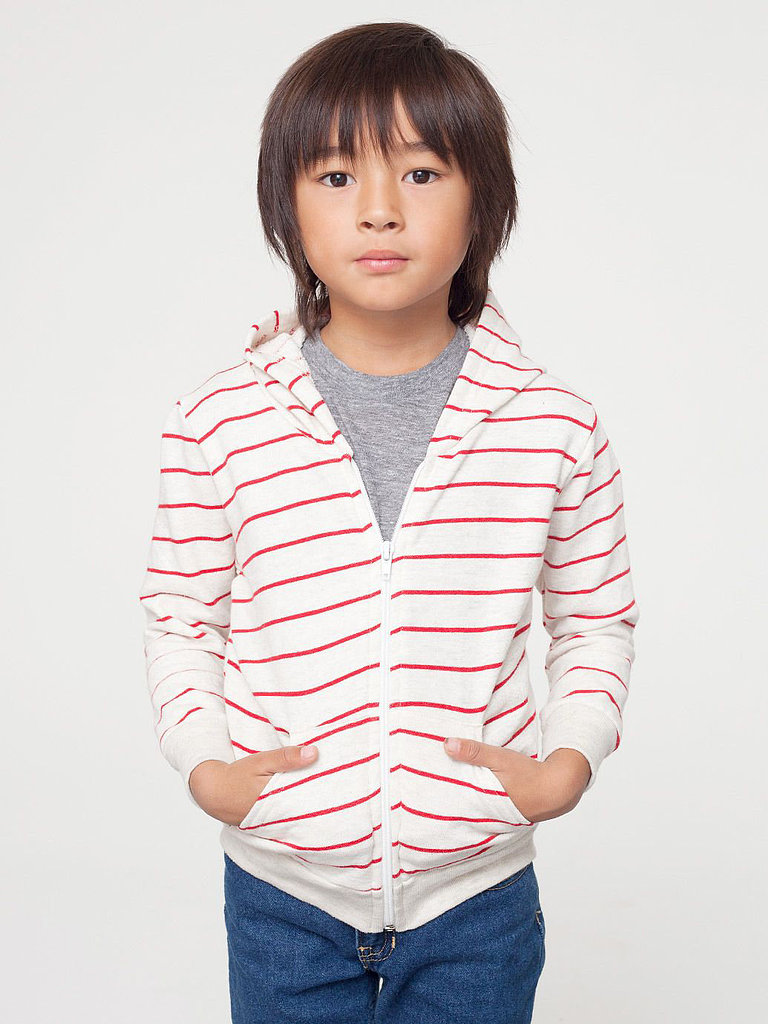 Kids Striped Fleece Zip Hoodie ($26)