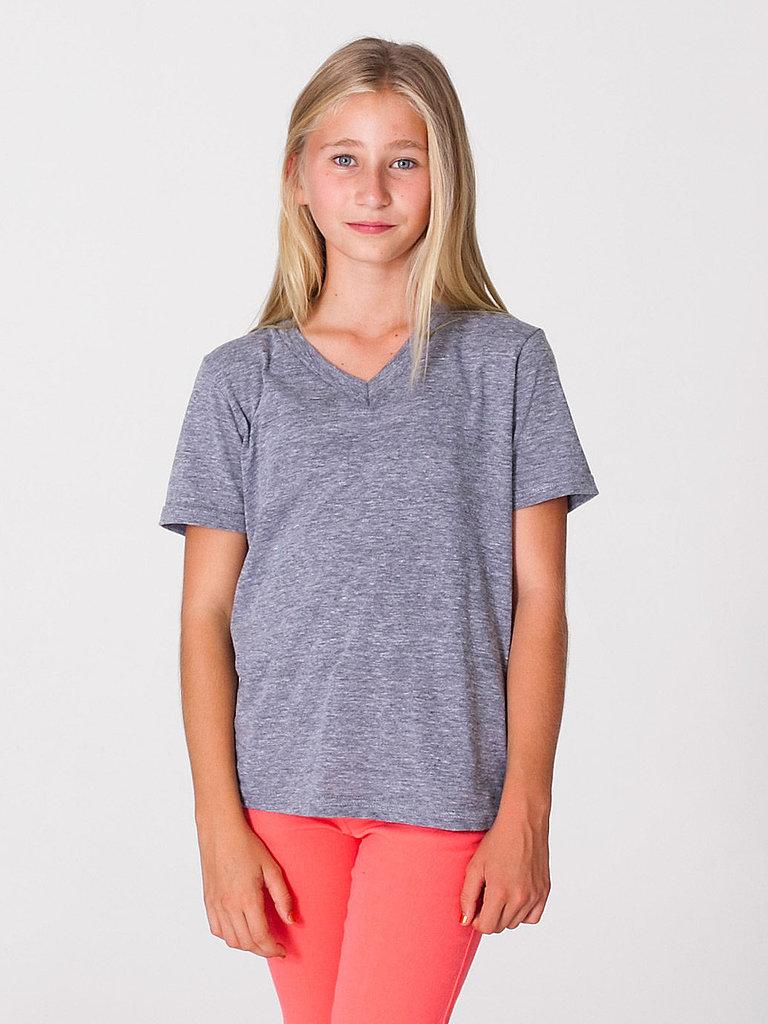 Youth Tri-Blend V-Neck T-Shirt ($16)
