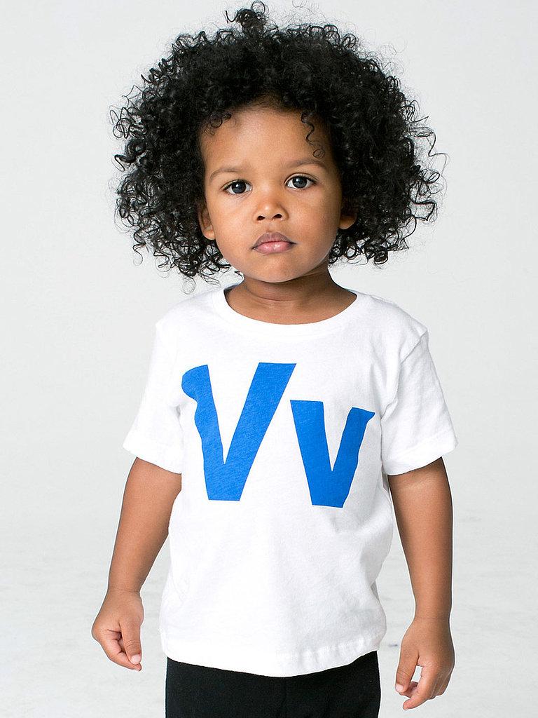 Helvetica Alphabet Infant Sheer Short Sleeve T-Shirt ($12)
