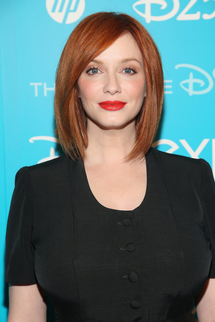 No list of redheads would be complete without Christina Hendricks of Mad Men. Her fair skin glows next to her copper hair color, and when paired with a red lip, it's sheer perfection.