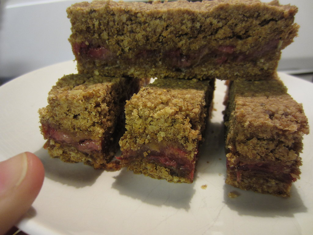 Gluten-Free Peanut Butter and Jelly Granola Bars Source: Foodie, Formerly Fat